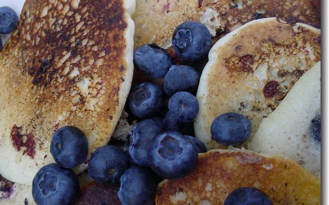 Decadent Vegan Blueberry Pancakes