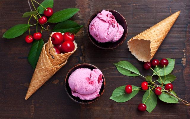 Homemade  ice cream on  dark background